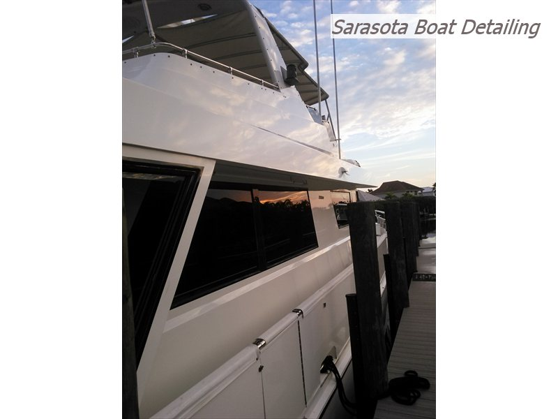 65 Hatteras after cleaning & polish
